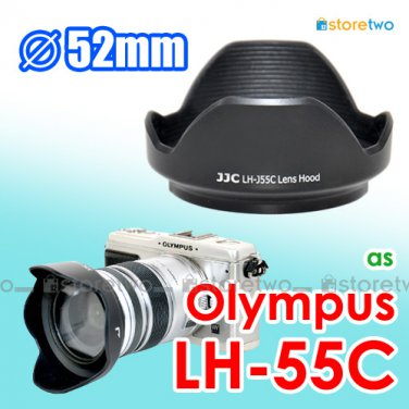 LH-55C - JJC Lens Hood for Olympus M.ZUIKO DIGITAL ED 12-50mm f/3.5-6.3 EZ