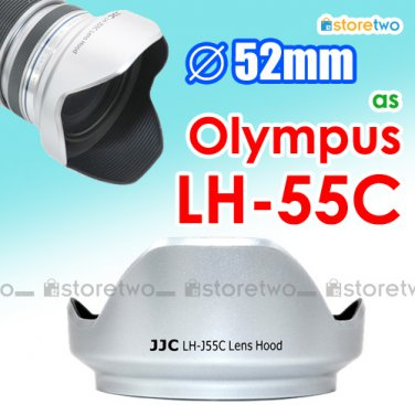 Silver LH-55C - JJC Lens Hood for Olympus M.ZUIKO DIGITAL ED 12-50mm f/3.5-6.3 EZ