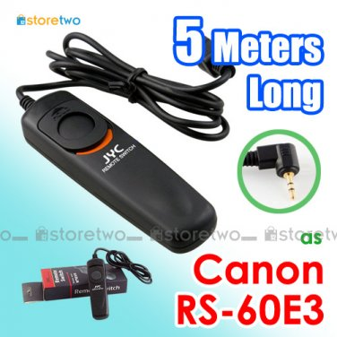RS-60E3 - JYC 5 Meters Shutter Remote Control for Canon EOS Camera