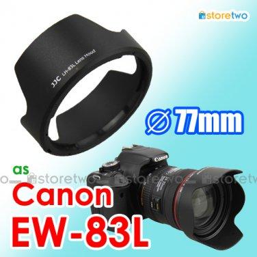 EW-83L - JJC Lens Hood for Canon EF 24-70mm f/4L IS USM 77mm Filter Thread