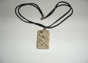 Feldspar Necklace - SS on black leather 30-0009