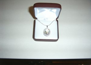 Sterling Silver White Topaz Drop & Cubic Zirconia  30-0012