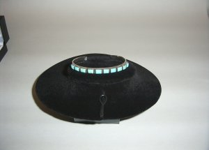 Sterling Silver Turquoise Cuff Bracelet 31-0003