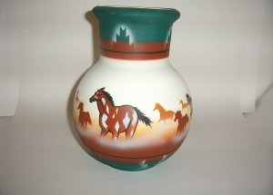 America Wild Coll. -Horse Green & Brown XLG Jug 60-0001