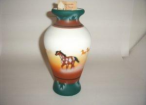 America Wild Coll. -Horse Green & Brown LG Jug 60-0002