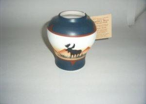 America Wild Coll. -Moose Bowl- blue & brown  60-0007