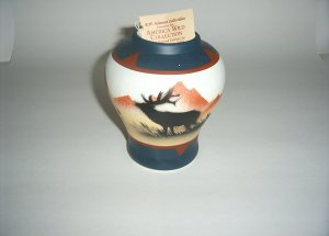 America Wild Coll. -Elk Bowl- blue & brown  60-0010