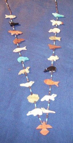 1 Strand Necklace-Apple Coral Eagle Bottom