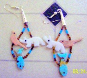 3 on a Loop Earrings