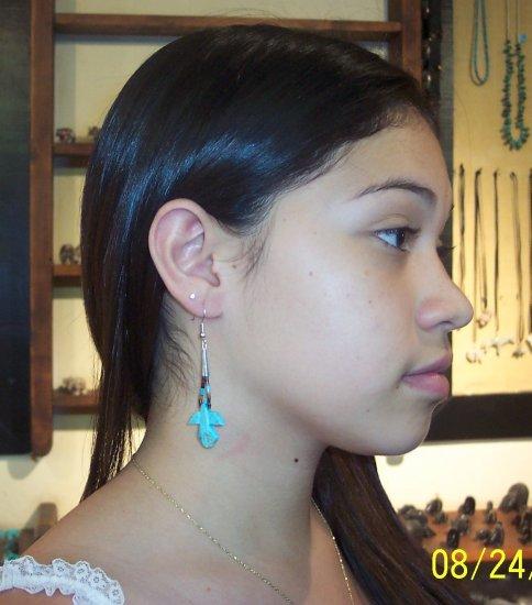 Eagle Loop Earrings-Turquoise