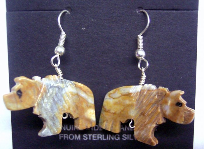 Grizzly Bear Twist Earrings-Picasso