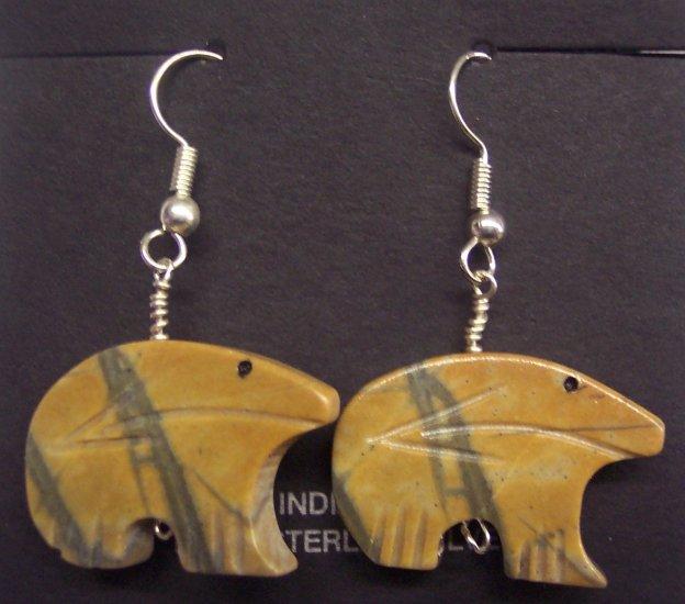 Heartline Bear Twist Earrings-Picasso Marble