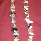 Stack Necklace with Black Marble Standing Bear Bottom