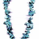 Stack Necklace in all Turquoise with Standing Bear Bottom