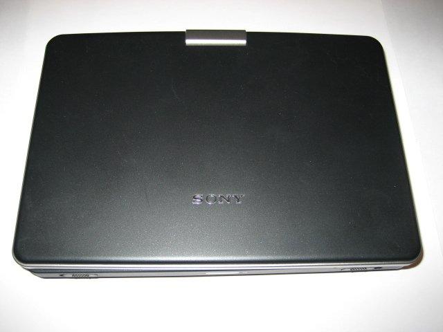 "Sony 8"" widescreen portable DVD player"
