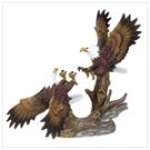Porcelain Fighting Eagles
