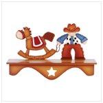 Cowboy and Rocking Horse Wall Shelf