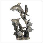 Antique Bronze Finish Dolphins