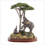 Elephant and Child Figurine