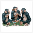 Monkeys Playing Card Game