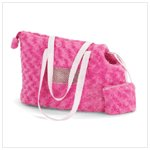 Pink Plush Pet Carrier