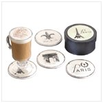 4 Pc. French Asst. Coasters