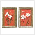 Floral Wall Plaques