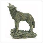 Antique Bronze Finish Wolf