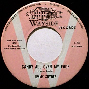 Snyder, Jimmy - Candy All Over My Face / Here Comes My Sunshine - Vinyl 45 Record -Wayside - Country