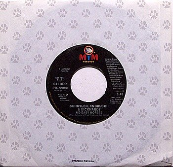 Schuyler Knoblock & Bickhardt - No Easy Horses - Vinyl 45 Record - MTM - SKB SKO Band - Country