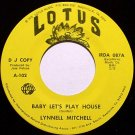 Mitchell, Lynnell - Baby Let's Play House - Vinyl 45 Record on Lotus - Promo - Female Country