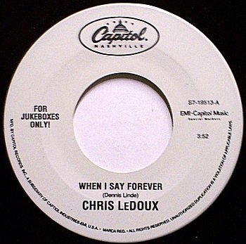 Ledoux, Chris - When I Say Forever / Stampede - Vinyl 45 Record - Jukebox Label - Country