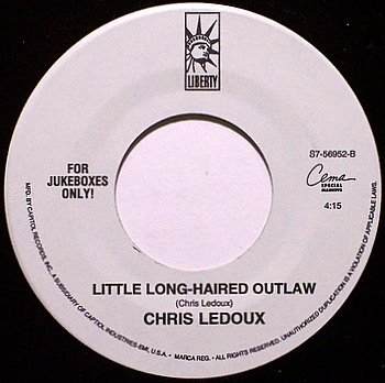 Ledoux, Chris - Little Long-Haired Outlaw / Look At You Girl - Vinyl 45 Jukebox Record - Country