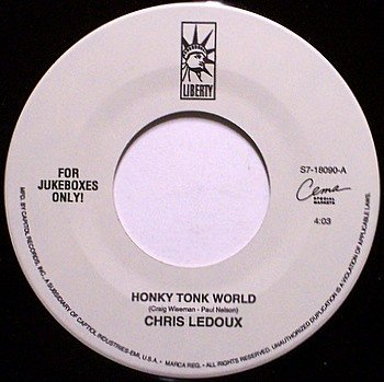 Ledoux, Chris - Honky Tonk World / Sons Of The Pioneers - Vinyl 45 Jukebox Record - Country