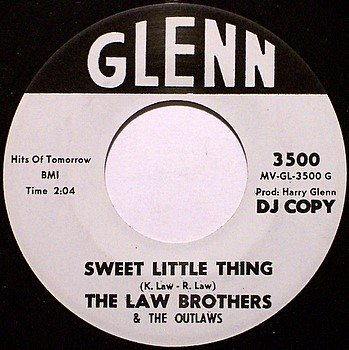 Law Brothers, The - Sweet Little Thing / I Need Someone - Vinyl 45 Record on Glenn - Country