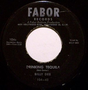 Dee, Billy - Drinking Tequila / Falling Star Waltz - Vinyl 45 Record on Fabor - Country