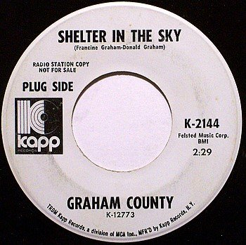 County, Graham - Shelter In The Sky / Soul Crusade - Vinyl 45 Record on Kapp - Promo - Country