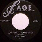 Bobo, Bobby - Lonesome & Heartbroken / My Sweet Love Ain't Around - Vinyl 45 Record - Country