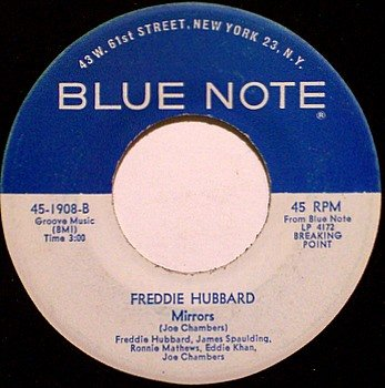 Hubbard, Freddie - Mirrors / Blue Frenzy - Vinyl 45 Record on Blue Note - Jazz