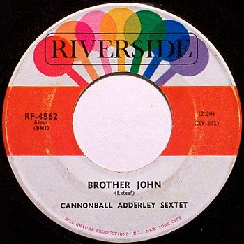 Adderley, Cannonball Sextet - Brother John / Tengo Tango - Vinyl 45 Record on Riverside - Jazz