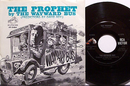 Wayward Bus - The Prophet Predictional By David Hoy - Vinyl 45 Record on RCA + Picture Sleeve - Odd