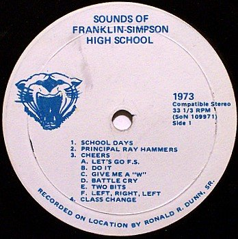 "Franklin Simpson High School Sounds - Southern Kentucky - Vinyl 7"" Record - 1973 - Odd Unusual"