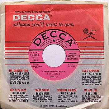 "Dangerfield, Rodney - Excerpts From The Loser - Vinyl 7"" EP on Decca - Promo Only - Comedy"