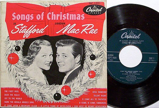 Stafford, Jo & Gordon Mac Rae - Songs Of Christmas - Vinyl EP Record on Capitol + Cover