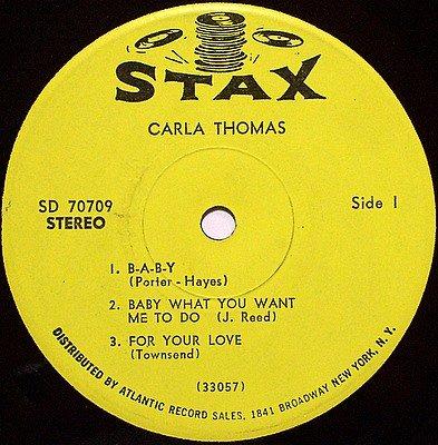 "Thomas, Carla - 7"" Vinyl EP Record on Stax - Six Songs - R&B Soul"