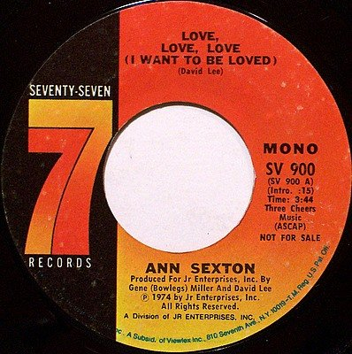 Sexton, Ann - Love Love Love (I Want To Be Loved) - Promo Mono / Stereo - Vinyl 45 Record - R&B Soul