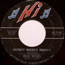 Mitchell, WIllie - Mercy Mercy Mercy / Soul Serenade - Vinyl 45 Record on Hi - R&B Soul