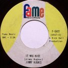 Hughes, Jimmy - It Was Nice / Goodbye My Love Good Bye - Vinyl 45 Record on Fame - R&B Soul