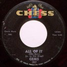 Gems - All Of It / Love For Christmas - Vinyl 45 Record on Chess - Minnie Ripperton - R&B Soul