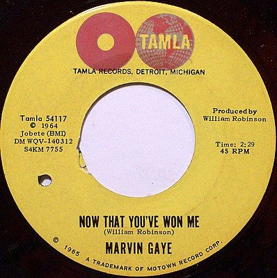 Gaye, Marvin - Now That You've Won Me / Pretty Little Baby - Vinyl 45 Record on Tamla - R&B Soul